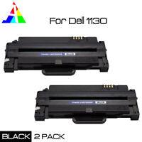 2 PK Black Toner Cartridge for Dell 1130 1133 1135n Laser Printer 2500 PG Yield