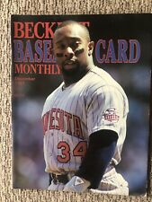 Beckett Baseball Card Monthly Price Guide - December, 1987 - KIRBY PUCKETT