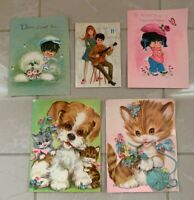 Vintage Birthday Cards, used, 50 years old, lot of 5, 1970