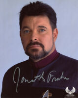 JONATHAN FRAKES SIGNED 8x10 PHOTO WILLIAM RIKER STAR TREK TNG RARE BECKETT BAS