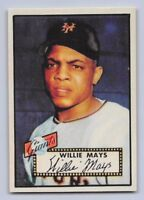 "1952  WILLIE MAYS - Topps ""REPRINT"" Baseball Card # 261 - NEW YORK GIANTS"