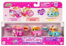 Shopkins CUTIE CARS (3 Pack) Dessert Drivers (Series 2) Toy Vehicle Figures Set