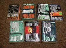 ROBIN COOK  7 books , sEIZURE,  ABDUCTION, MORTAL FEAR, TOXIN,  FATAL CURE