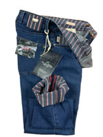 Jeans Tramarossa Mod. LEONARDO - Denim superstretch print Riga - denim uomo