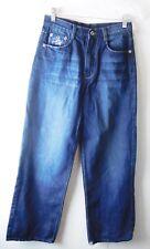FUBU Junior Jeans Size 14 Dark Wash Embellished Straight Leg Classic Rise