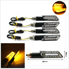 4 Pcs DC12V 15LED Amber Motorcycle ATV Turn Signal Light Indicator Lamps Blinker