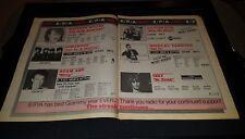 Weird Al, Adam Ant, Ozzy Osbourne Rare Original Radio Promo Poster Ad Framed!