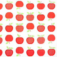 Red Apples Design PVC Vinyl Oilcloth Wipeclean Tablecloth Multiple Sizes, Food