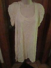 LAUREN VIDAL Ivory Trendy Summer Baby Doll Puckered Dress SIZE L