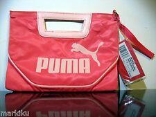 New Paradise Pink Puma Clutch purse sporty, Core Letter Bag handbag puma emblem