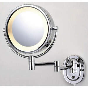 SEE ALL INDUSTRIES HLCSA895 Lighted Makeup Mirror,8 In.,Chrome,5X