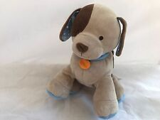 Toys Babies r us baby plush brown puppy dog orange tag Polka dot ears Clean EUC