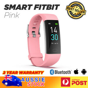 Pink Fitness tracker smart watch Fitbit style health monitor With APP AU SELLER