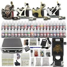 Complete Tattoo Kit 4 Machine Gun Power Supply 40 Color Ink Grip Needle Set DC03