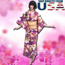 "1/6 Japanese Kimono Dress Purple For 12"" Tbl Phicen Verycool Female Figure Usa"
