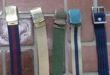 """Men's Fabric Belts Approx. 48"""" tip to tip (Lot of 5)"""
