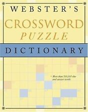 NEW - Webster's Crossword Puzzle Dictionary by Random House