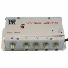 CATV 4-Way Cable TV Signal Booster Amplifier Splitter & FREE SHIPPING!!!
