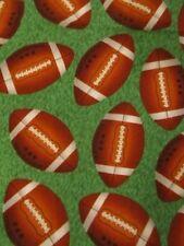 3 Yards Football Sports Fabric Touchdown! Shamah & Sons  Grass Print Background