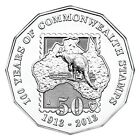 2013 50c 100 Years of Commonwealth Stamps Uncirculated Australian Decimal Coin