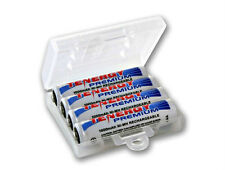 4pcs Tenergy Premium AAA NiMH Rechargeable Batteries + 1 Holder