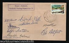 NEPAL 1979 AUSTRALIA SUNKOSHI RIVER RAFTING EXPEDITION SIGNED SCARCE COVER