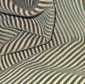 2.25y Brunschwig & Fils Plush 100% Linen Velvety Blue Striped Chenille