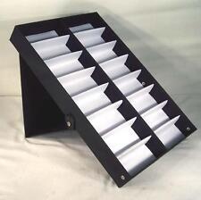 2 Vertical Portable Sunglass Covered 16 Pair Display Tray Standup eyeglass rack