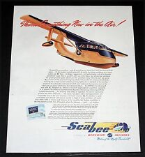 1945 OLD WWII MAGAZINE PRINT AD, REPUBLIC AVIATION SEABEE, YOUR PERSONAL PLANE!