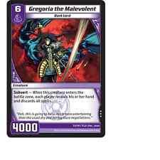 Kaijudo X3 GREGORIA THE MALEVOLENT Rare #33/110 7CLA (Playset) Clash Duel Master