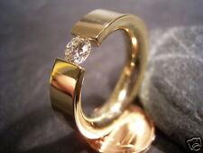 REIF-DESIGN - FEINER BRILLANT SPANNRING - 585 GOLD - AUS EIGENER GOLDSCHMIEDE