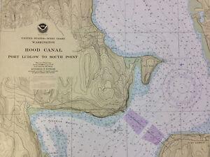 NAUTICAL CHART 18461 Hood Canal to South Pt, Puget Sound, SAIL KAYAK WALLPAPER