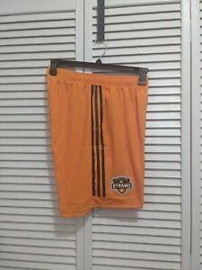 NWT Adidas Mens MLS Houston Dynamo Soccer Shorts sz M Orange