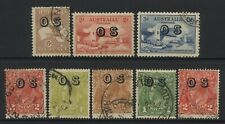 Australia Collection 8 Stamps Ovprt OS Used