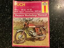 PUCH VS50 VZ50 VF50 M50 GRAND PRIX SPORTS MOPED HAYNES WORKSHOP MANUAL 1972-1976