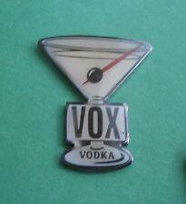 Vox Vodka in a Martini Glass Advertising Lapel Pin
