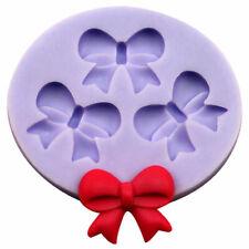3D Bowknot Bow Fondant Cake Chocolate SugarCraft Mold Silicone Kits_ Z2H8