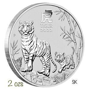 2022 Lunar Tiger 2 oz Silver Coin