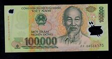 VIET NAM  100000 DONG 2004  FF  POLYMER  PICK # 122a  UNC BANKNOTE.
