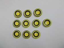10 x Yellow Buttons with Black Band Detail 2 Hole Buttons Baby Buttons 15mm