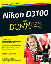 Nikon D3100 for Dummies by King (Paperback, 2010)