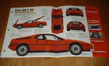 ★★1980 BMW M1 SPEC SHEET BROCHURE INFO PRINT POSTER PHOTO 78 79 80 81 82 M-1★★