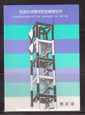 JAPAN 1985 SOUVENIR CARD, INAUGURATION OF THE UNIVERSITY OF THE AIR !!