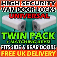 UNIVERSAL Ford Transit Custom Rear & Side Doors Van Security Lock Pair Twin Pack