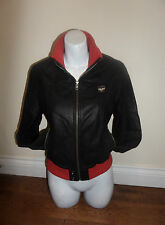Superdry Waist Length Leather Biker Jackets for Women