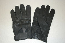 MEN'S DRIVING GLOVES, SPORTS CAR, MOTORCYCLE, ATV, BLACK LEATHER, L FREE SHIP