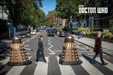 DOCTOR WHO - TV SHOW POSTER / PRINT (DR. WHO, CLARA & DALEKS - ABBEY ROAD)