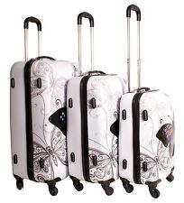 Butterfly 3 PZ VALIGIA SET 4 RUOTE VIAGGIO TROLLEY ABS Bag Set