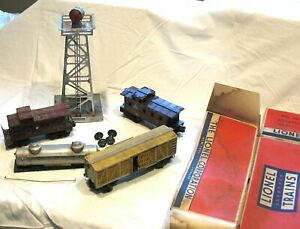 Lionel 494 Beacon, Caboose, Cattle, & Tanker Cars - Cheap & Free Shipping