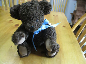 Vintage Brown Russian Lamb Teddy Bear,Leather Paws & Jointed,Signed & Numbered